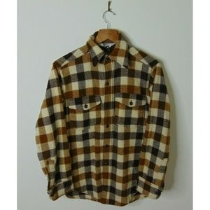 Vintage Woolrich Small Flannel Button Shirt Brown